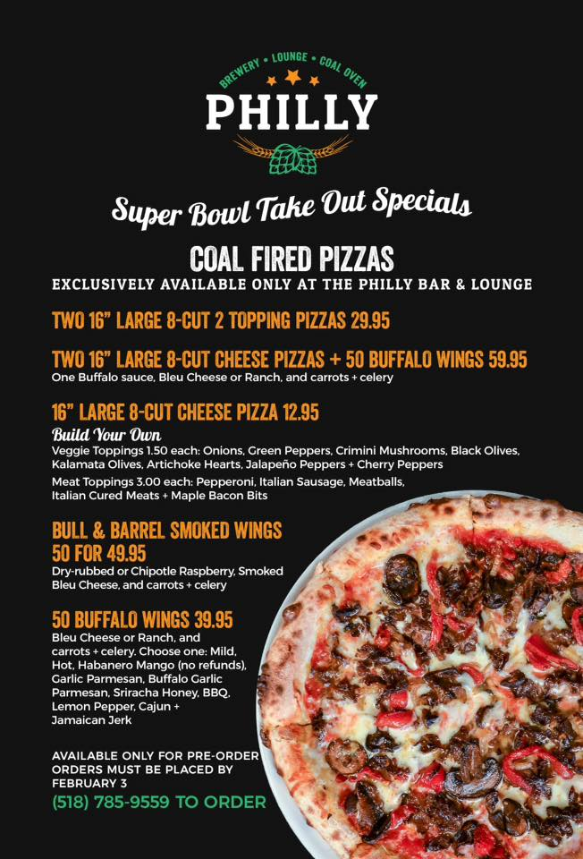 philly super bowl take out specials