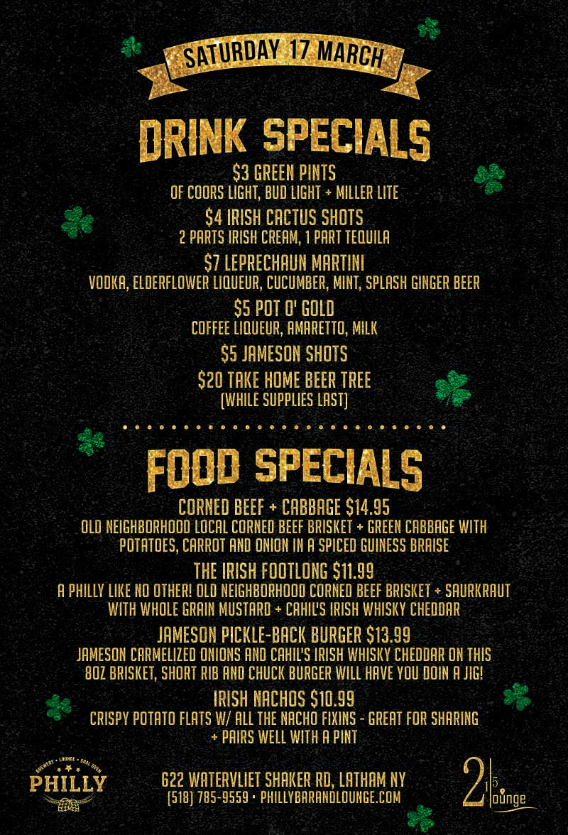 philly st pats food drinks